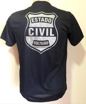 Camiseta Estampada Estado Civil Solteiro