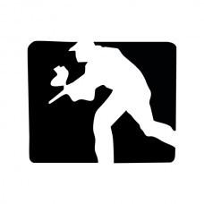 Adesivo Paintball Player