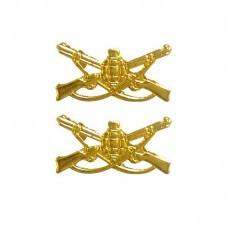 Distintivo Metal Gola Dourado Infantaria