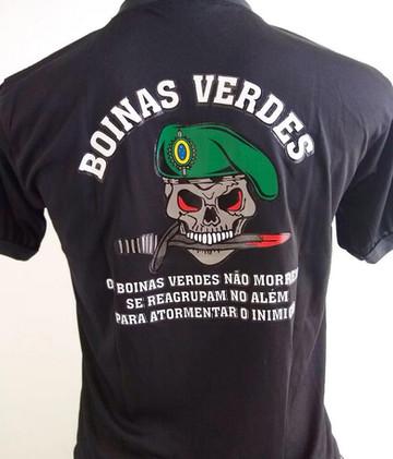 Camiseta Estampada Boinas Verdes
