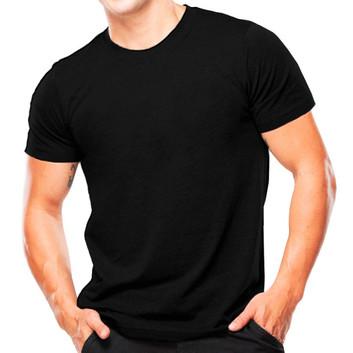Camiseta Preta Lisa Manga Curta