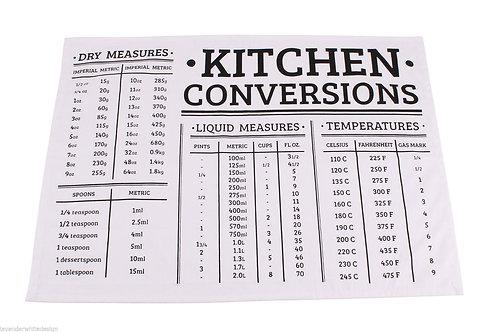 Kitchen Converstion Tea Towel