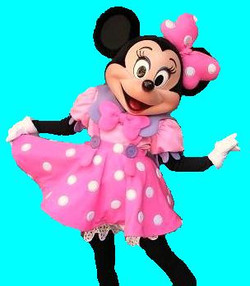 Girl Mouse in Pink Dress