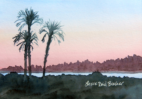 Three Palms Sunset