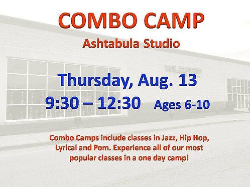 Aug. 13 Dance Camp at our Ashtabula Studio
