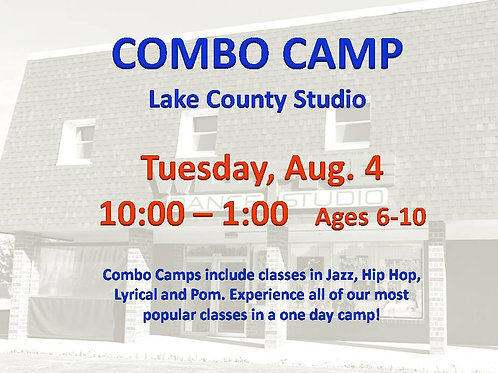 Aug. 4 Dance Camp at our Lake County Studio