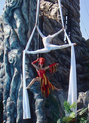 danza aerea tessuti natri teli stoffe drappi sete acrobata danza acrobatica sospesa in aria