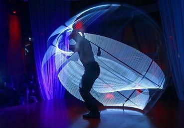 Uno degli spettacoli acrobatici più emozionanti.Lo show con ruota di rhon prevede un effetto pirotecnico con fuochi d'artificio con gran chiusura di una performance mozzafiato racchiusa in un cerchio perfetto in vengono compiute evoluzioni lineari e spiral
