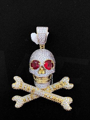 Crossbones Skull Pendant
