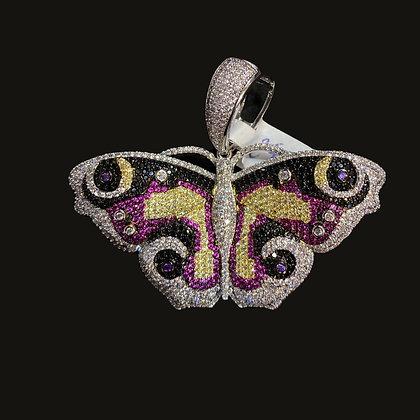Vibrant Butterfly Pendant
