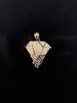 10K Dripping Diamond Pendant