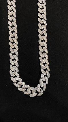 12mm Diamond Cuban Link Chain