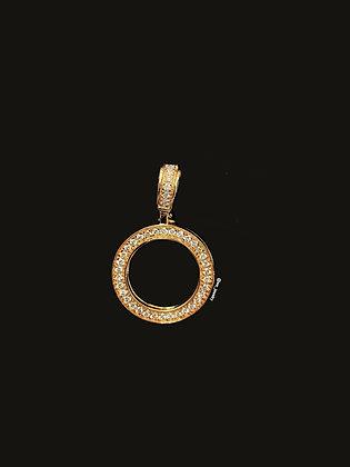 10K Yellow Gold Diamond Picture Pendant