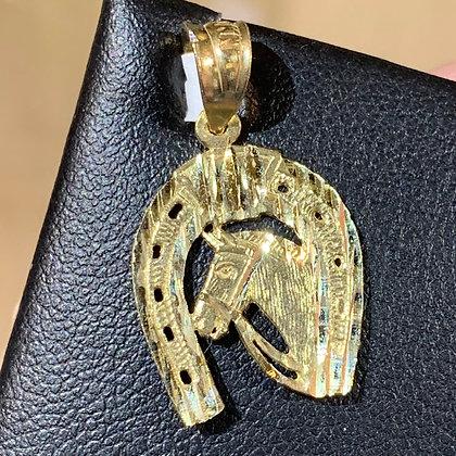 10k Horse Shoes pendant