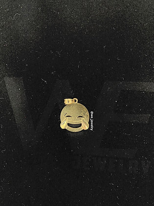 10K Crying Laughter Pendant