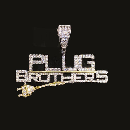"925 Sterling Silver ""Plug Brothers"" Pendant"