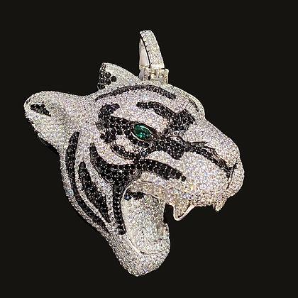 "925 Sterling Silver ""Tiger"" Pendant"