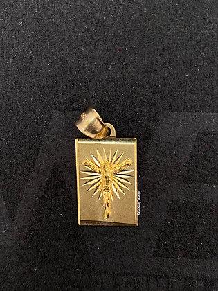 10K Jesus Box Pendant