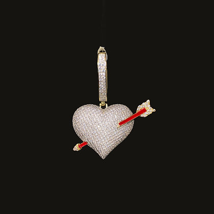 925 Sterling Silver Cupid Heart Pendant