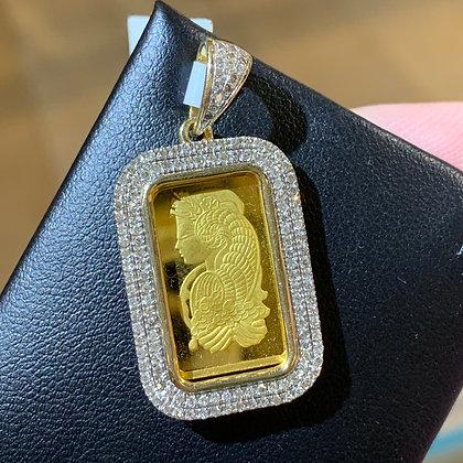 Suisse Gold Bar Pendant