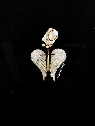 Angel Wings Cross Pendant