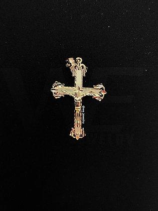 10K Medieval Crucifix Pendant