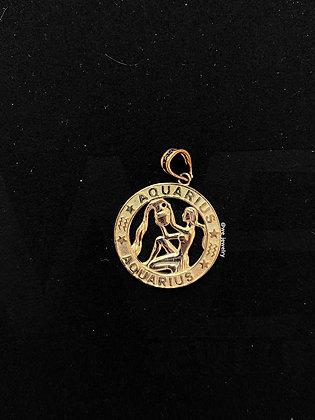 10K Aquarius Symbol Pendant