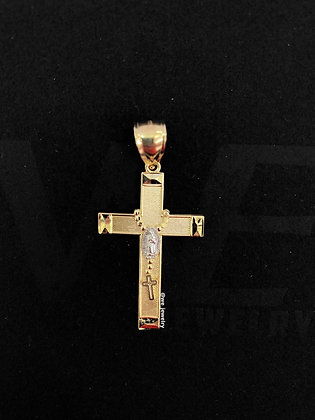 10K Rosary Cross Pendant