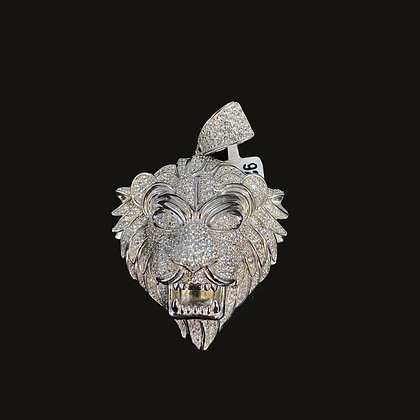 "925 Sterling Silver ""Lion Head"" Pendant"