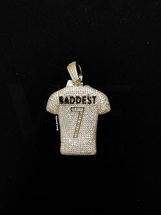 925 Sterling Silver Baddest 7 Jersey Pendant