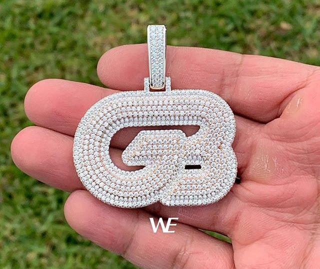 Custom _GB_ pendant in 2 tone 2 layer_Sp