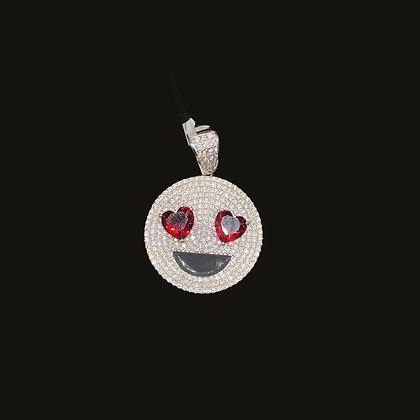 925 Sterling Silver Heart Eye Pendant