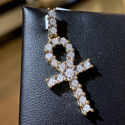 Ankh Cross Diamond Prongs Set