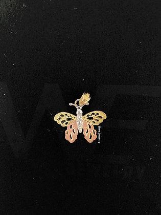 10K Butterfly Pendant