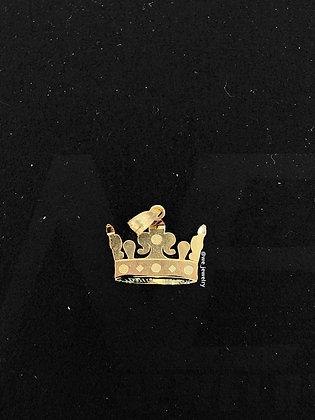 10K Crown Pendant