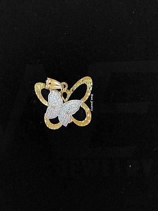 10K Double Butterfly Pendent