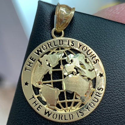 """The World is Yours"" Pendant"