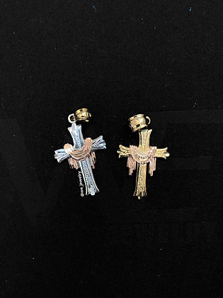 10k Tri tone Cross with Cloth