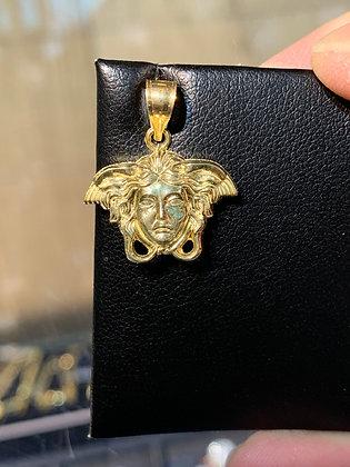 10K Gold Medusa Pendant