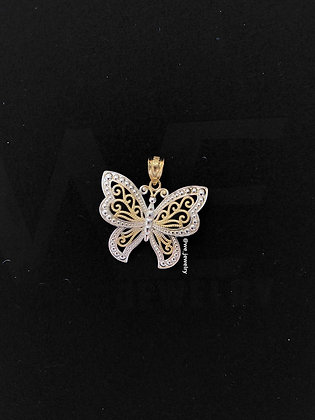 10K Abstract Butterfly Pendant