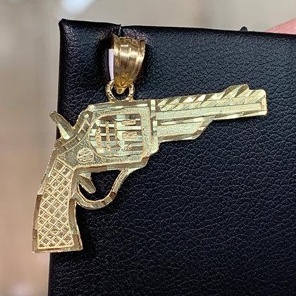 10k Pistol Gun Pendant