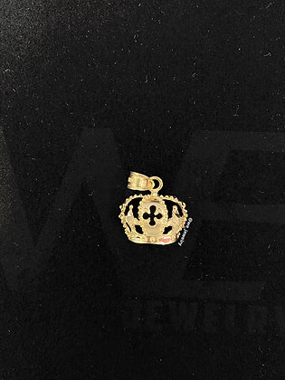 10K Crown Pendant