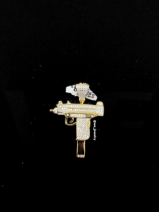 925 Sterling Silver Gun Pendant