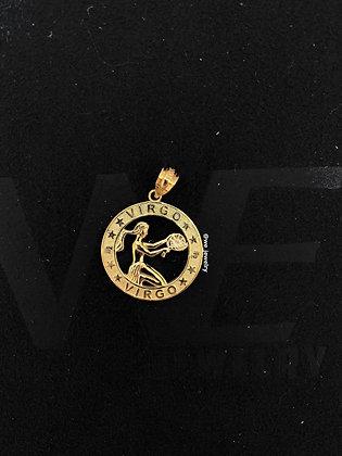 10K Virgo Symbol Pendant