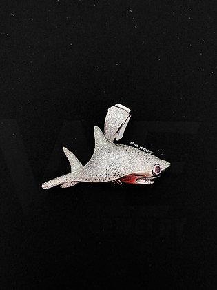 925 Sterling Silver Shark Pendant
