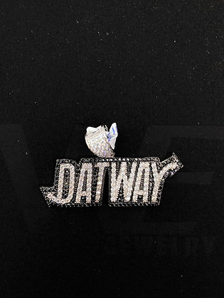 """925 Sterling Silver """"DatWay"""" Pendant"""