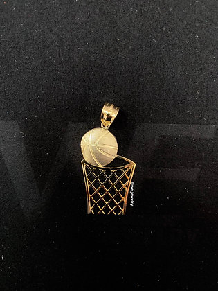 10K Basketball Pendant