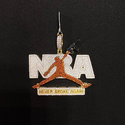 "925 Sterling Silver ""Never Broke Again"" Pendant"