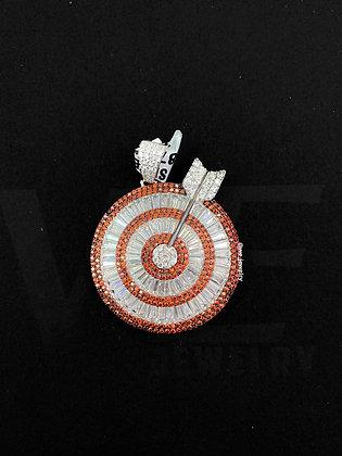 925 Sterling Silver Arrow in Target Pendant