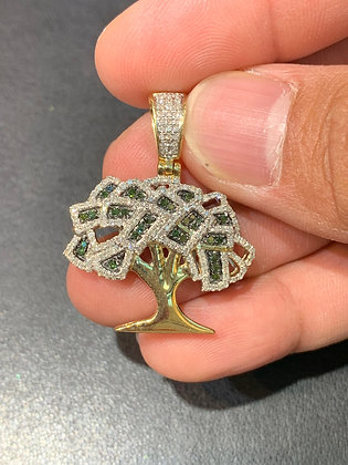 "10k Yellow Gold Diamonds ""Money Tree"" Pendant"